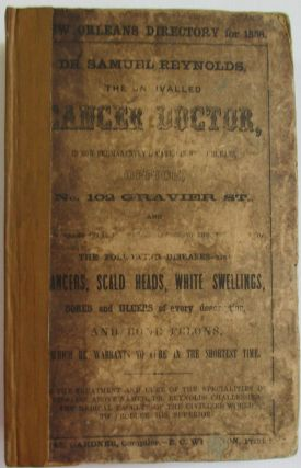 GARDNER & WHARTON'S NEW ORLEANS DIRECTORY, FOR THE YEAR 1858: EMBRACING THE CITY RECORD, A GENERAL DIRECTORY OF THE CITIZENS, AND A BUSINESS AND FIRM DIRECTORY.
